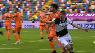 GOLO! Udinese, N. Molina aos 10', Udinese 1-0 Juventus