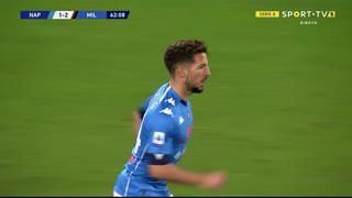 GOLO! Napoli, D. Mertens aos 63', Napoli 1-2 Milan