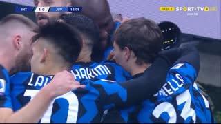 GOLO! Internazionale, A. Vidal aos 12', Internazionale 1-0 Juventus