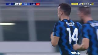 GOLO! Internazionale, I. Perišić aos 90'+2', Internazionale 2-2 Parma