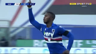 GOLO! Sampdoria, B. Keita aos 38', Sampdoria 2-0 Internazionale