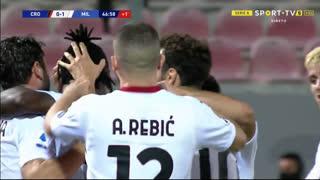 GOLO! Milan, F. Kessié aos 45'+2', Crotone 0-1 Milan