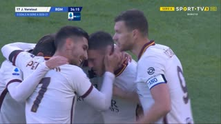 GOLO! Roma, J. Veretout aos 35', Bologna 1-5 Roma