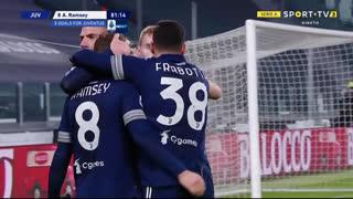 GOLO! Juventus, A. Ramsey aos 82', Juventus 2-1 Sassuolo