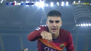 GOLO! Roma, G. Mancini aos 77', Roma 3-1 Cagliari