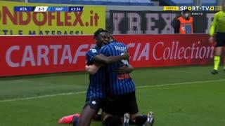 GOLO! Atalanta, R. Gosens aos 64', Atalanta 2-1 Napoli