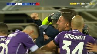 GOLO! Fiorentina, N. Milenković aos 90'+8', Fiorentina 1-1 Genoa