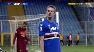 GOLO! Sampdoria, J. Jankto aos 65', Sampdoria 2-0 Roma