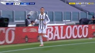 GOLO! Juventus, Cristiano Ronaldo aos 24', Juventus 1-0 Internazionale