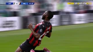 GOLO! Milan, F. Tomori aos 82', Juventus 0-3 Milan