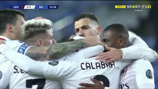 GOLO! Milan, D. Calabria aos 52', Genoa 1-1 Milan
