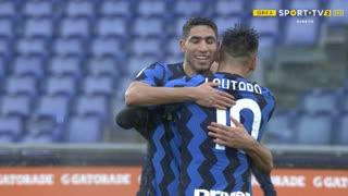 GOLO! Internazionale, A. Hakimi aos 63', Roma 1-2 Internazionale