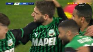 GOLO! Sassuolo, N. Maksimović (p.b.) aos 34', Sassuolo 1-0 Napoli