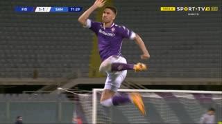 GOLO! Fiorentina, D. Vlahović aos 72', Fiorentina 1-1 Sampdoria
