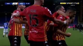GOLO! Benevento, L. Caldirola aos 72', Sampdoria 2-2 Benevento