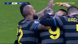GOLO! Internazionale, R. Lukaku aos 78', Internazionale 4-0 Benevento