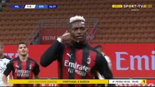 GOLO! Milan, Rafael Leão aos 57', Milan 1-0 Spezia
