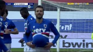 GOLO! Sampdoria, A. Candreva aos 23', Sampdoria 1-0 Internazionale