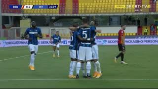 GOLO! Internazionale, R. Gagliardini aos 25', Benevento 0-2 Internazionale