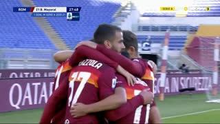 GOLO! Roma, Borja Mayora aos 28', Roma 1-0 Parma
