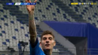 GOLO! Napoli, G. Di Lorenzo aos 72', Sassuolo 2-2 Napoli
