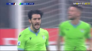 GOLO! Lazio, Luis Alberto aos 27', Milan 2-1 Lazio