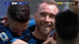 GOLO! Internazionale, C. Eriksen aos 44', Internazionale 2-0 Udinese
