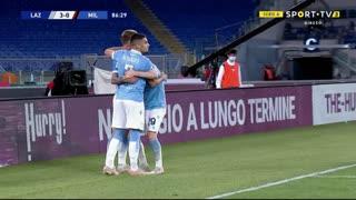 GOLO! Lazio, C. Immobile aos 87', Lazio 3-0 Milan