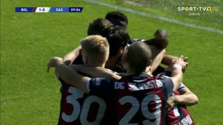 GOLO! Bologna, R. Soriano aos 9', Bologna 1-0 Sassuolo