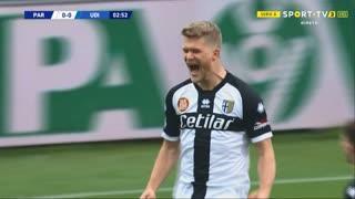 GOLO! Parma, A. Cornelius aos 3', Parma 1-0 Udinese