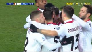 GOLO! Milan, F. Kessié aos 15', Benevento 0-1 Milan