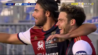 GOLO! Cagliari, N. Nández aos 68', Cagliari 2-0 Sampdoria