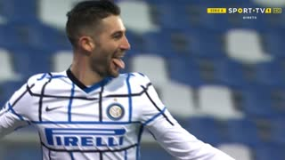 GOLO! Internazionale, R. Gagliardini aos 60', Sassuolo 0-3 Internazionale
