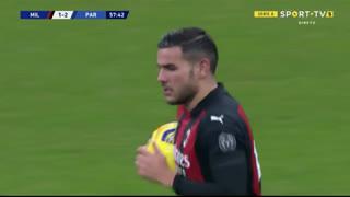 GOLO! Milan, T. Hernández aos 58', Milan 1-2 Parma