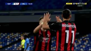 GOLO! Milan, Ibrahimovic aos 54', Napoli 0-2 Milan