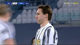 GOLO! Juventus, F. Chiesa aos 29', Juventus 1-0 Atalanta