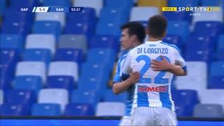 GOLO! Napoli, H. Lozano aos 53', Napoli 1-1 Sampdoria