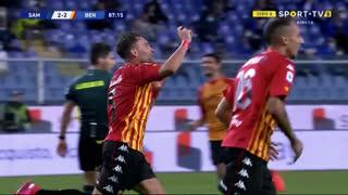 GOLO! Benevento, G. Letizia aos 88', Sampdoria 2-3 Benevento