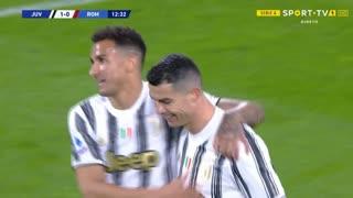 GOLO! Juventus, Cristiano Ronaldo aos 13', Juventus 1-0 Roma