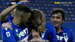 GOLO! Sampdoria, J. Jankto aos 23', Sampdoria 1-0 Genoa