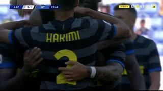 GOLO! Internazionale, L. Martínez aos 30', Lazio 0-1 Internazionale