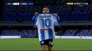 GOLO! Napoli, L. Insigne aos 30', Napoli 1-0 Roma
