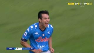 GOLO! Napoli, H. Lozano aos 23', Napoli 1-0 Atalanta