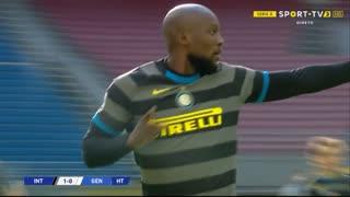 GOLO! Internazionale, R. Lukaku aos 1', Internazionale 1-0 Genoa