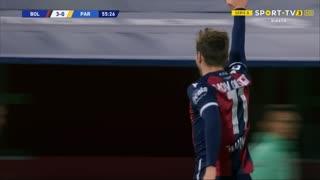 GOLO! Bologna, A. Olsen aos 56', Bologna 3-0 Parma