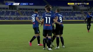 GOLO! Atalanta, R. Gosens aos 10', Lazio 0-1 Atalanta