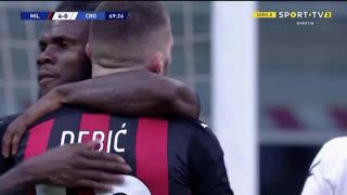 GOLO! Milan, A. Rebić aos 70', Milan 4-0 Crotone