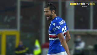 GOLO! Sampdoria, E. Gyasi (p.b.) aos 15', Sampdoria 1-0 Spezia