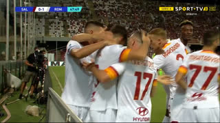 GOLO! Roma, L. Pellegrini aos 48', Salernitana 0-1 Roma