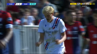 GOLO! Sampdoria, M. Thorsby aos 82', Cagliari 2-1 Sampdoria